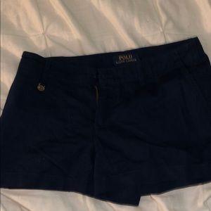 navy blue ralph lauren shorts